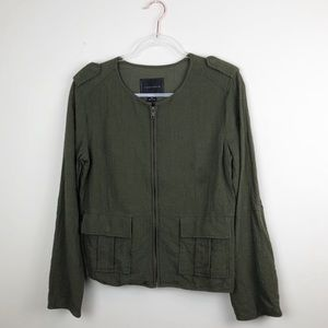 Sanctuary Olive Green Military Jacket Lightweight